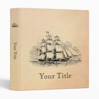 Vintage Sailing Ship Binders