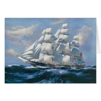 Vintage Sailing Ship Card