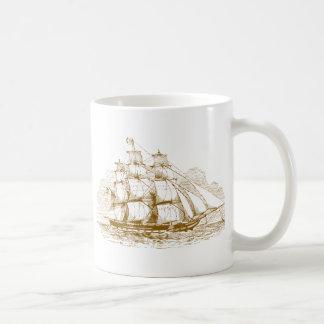 Vintage Sailing Ship Coffee Mug