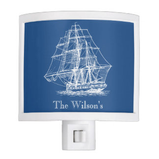 Vintage Sailing Ship Personalized Design Night Lites