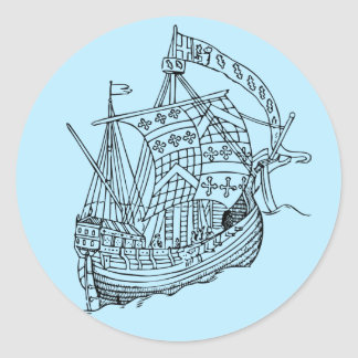 Vintage Sailing Ship Stickers