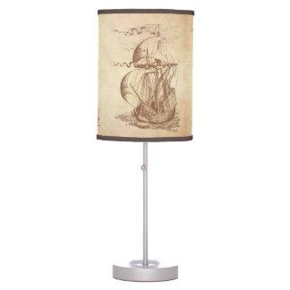 Vintage Sailing Ship Table Lamp