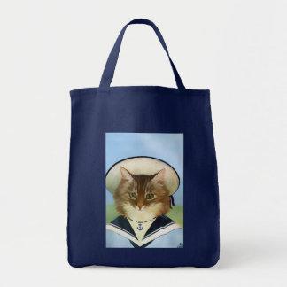 Vintage Sailor Cat Tote Bag