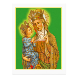 Vintage Saint Anne and the Virgin Mary Postcard