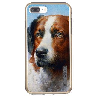 Vintage Saint Bernard Dog Incipio DualPro Shine iPhone 8 Plus/7 Plus Case