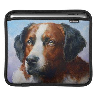 Vintage Saint Bernard Dog iPad Sleeve