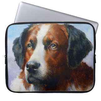 Vintage Saint Bernard Dog Laptop Sleeve