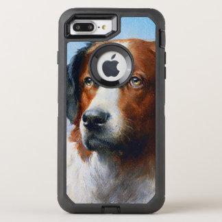 Vintage Saint Bernard Dog OtterBox Defender iPhone 8 Plus/7 Plus Case