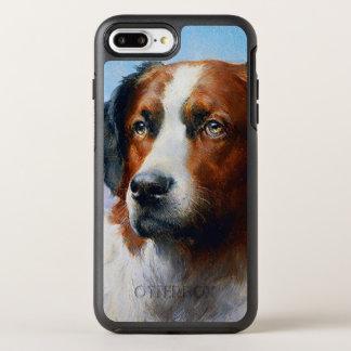 Vintage Saint Bernard Dog OtterBox Symmetry iPhone 8 Plus/7 Plus Case