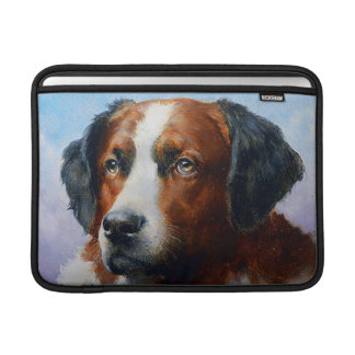Vintage Saint Bernard Dog Sleeve For MacBook Air