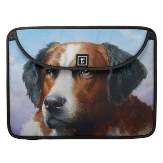 Vintage Saint Bernard Dog Sleeve For MacBook Pro