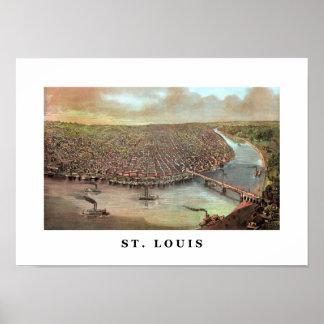 Vintage Saint Louis Missouri Poster