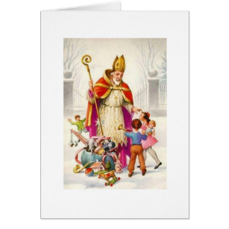 Vintage Saint Nicholas Greeting Card