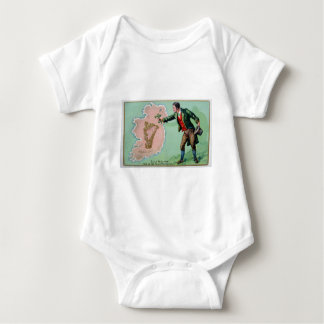 Vintage Saint Patrick's day erin's isle poster Baby Bodysuit