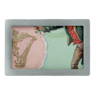 Vintage Saint Patrick's day erin's isle poster Belt Buckle