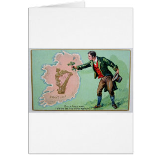 Vintage Saint Patrick's day erin's isle poster Card