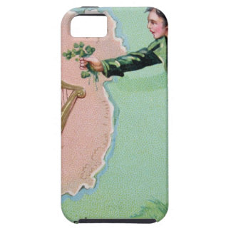 Vintage Saint Patrick's day erin's isle poster Case For The iPhone 5