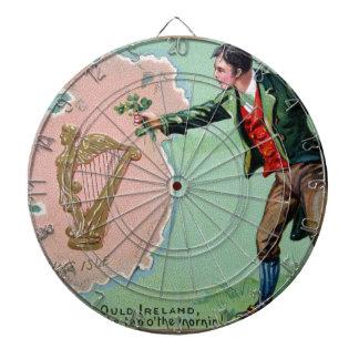 Vintage Saint Patrick's day erin's isle poster Dartboard With Darts