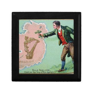 Vintage Saint Patrick's day erin's isle poster Gift Box
