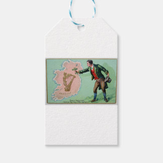 Vintage Saint Patrick's day erin's isle poster Gift Tags