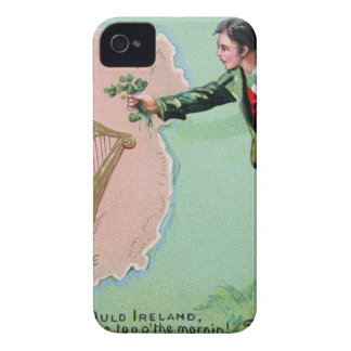 Vintage Saint Patrick's day erin's isle poster iPhone 4 Case-Mate Case