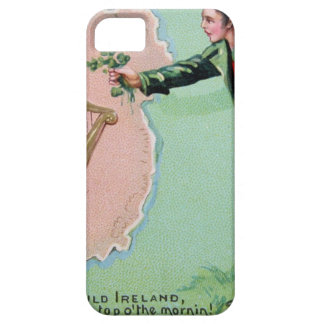 Vintage Saint Patrick's day erin's isle poster iPhone 5 Cases
