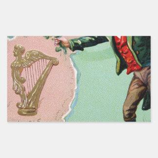 Vintage Saint Patrick's day erin's isle poster Sticker