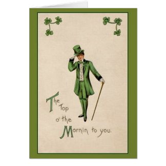 Vintage Saint Patrick's Day Greeting Card