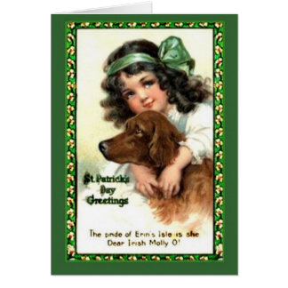 Vintage Saint Patrick's Day Notecard