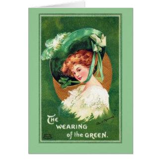 Vintage Saint Patrick's Day Notecard