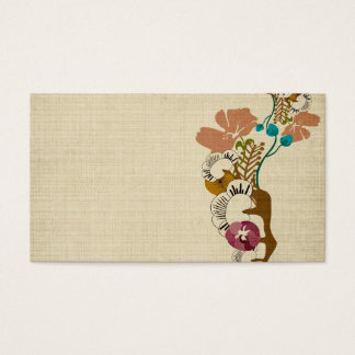 Vintage sakura and flowers Business Card