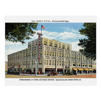 Vintage Sal Sagev Hotel Las Vegas Postcard