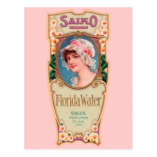 Vintage Salko Florida Water Perfume Label Postcard