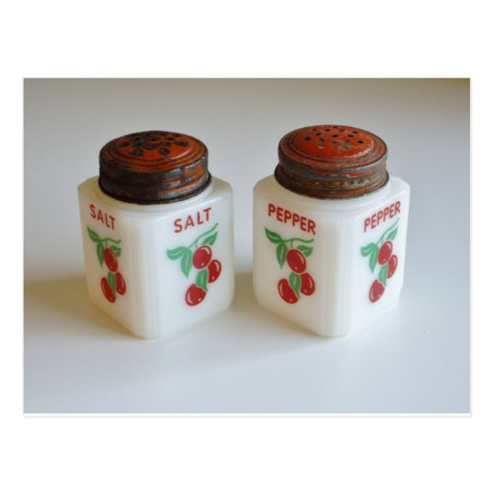 Vintage Salt and Pepper Shakers Postcard