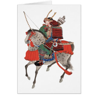 Vintage Samurai on Horseback, c. 1878 Card