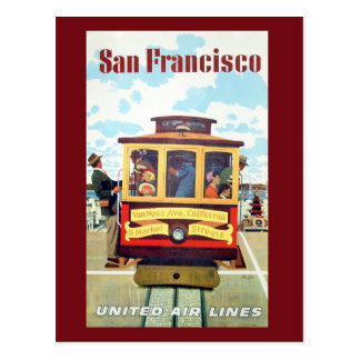 Vintage San Francisco Cable Car Travel Postcard