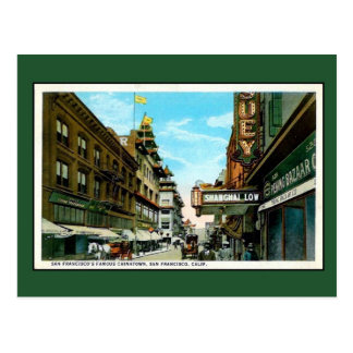 Vintage San Francisco Chinatown Postcard
