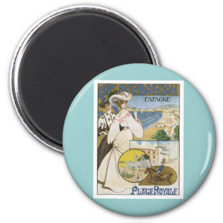 Vintage San Sebastian Spain 2 Inch Round Magnet
