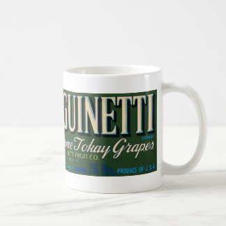 Vintage Sanguinetti Brand Grapes Coffee Mug