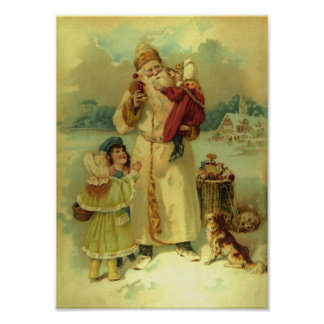 Vintage Santa - 1890s Poster