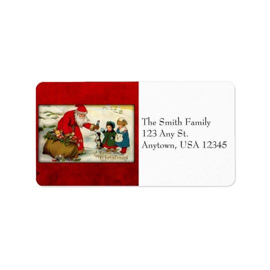 Vintage Santa Address Labels