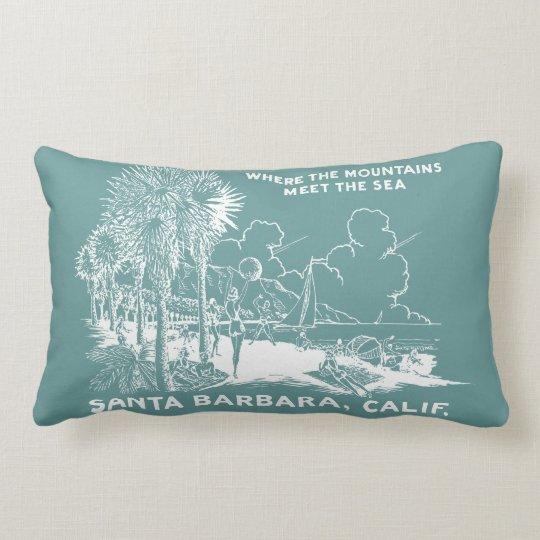 Vintage Santa Barabara California Lumbar Pillow
