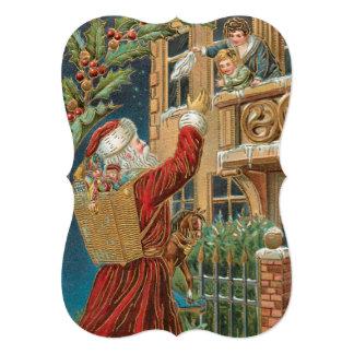 Vintage Santa Bringing Presents Card