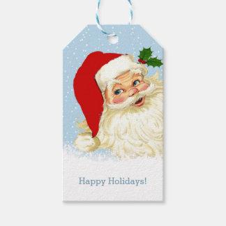 Vintage Santa Christmas Gift Tags Pack Of Gift Tags