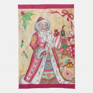 Vintage Santa Christmas Holiday Kitchen Towel