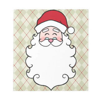 Vintage Santa Christmas Holiday Notepad Gift