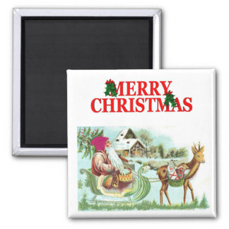 Vintage Santa Christmas Magnet