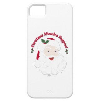 Vintage Santa Christmas Miracles Happen! iPhone 5 Covers
