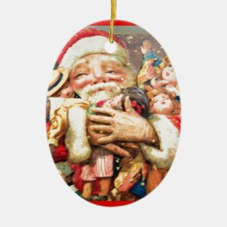 vintage-santa-christmas-post-cards-0004 ceramic ornament