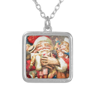 vintage-santa-christmas-post-cards-0004 silver plated necklace